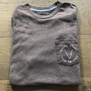 Men's Volcom Grey Tee Medium